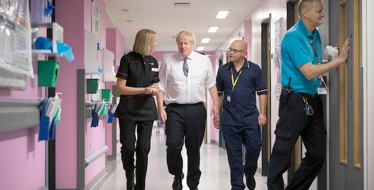 Johnson says claims NHS is up for grabs are in Loch Ness Monster territory