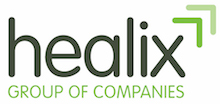 Healix International's logo takes you to their list of jobs