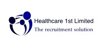 Healthcare 1st's logo takes you to their list of jobs