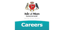 Isle of Man Public Service's logo takes you to their list of jobs