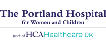 The Portland Hospital's logo takes you to their list of jobs
