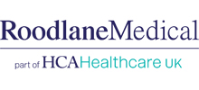 Roodlane Medical's logo takes you to their list of jobs