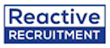 Reactive Recruitment's logo takes you to their list of jobs