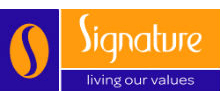 Signature Senior Lifestyle's logo takes you to their list of jobs