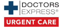 Doctors Express's logo takes you to their list of jobs